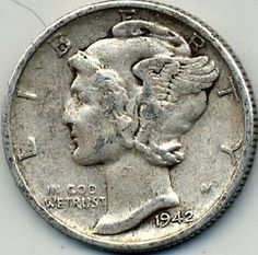 1942-S Mercury Head Dime Free S (mh023)