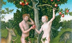 Apples and snakes: detail from Lucas Cranach's Adam and Eve. Photograph: ©The Samuel Courtauld Trust, The Courtauld Gallery, London