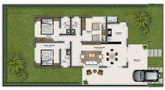Resultado de imagem para planta de casas 2 quartos e 2 suites