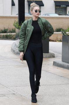 black-leggings-geometric-patterns-coat-bare-midriff