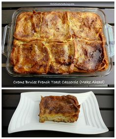 Creme Brulee French Toast Casserole (Make The Day Before & Just Put in the Oven)