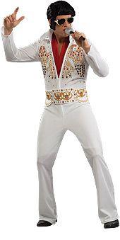 Elvis. Tämä naamiaisasu on kuin kunnianosoitus rockin kuninkaalle. Naamiaisasu on lisensoitu Elvis-tuote.