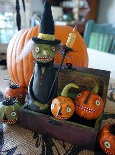 RESERVED+for+DARREN+//+Halloween+Folk+Art+//+by+CatandFiddlefolk