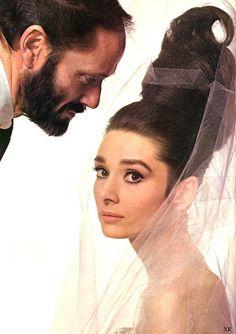 Mel Ferrer and wife Audrey Hepburn, 1966.  Photo by Bert Stern. ☀