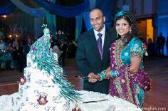 indian-wedding-bride-groom-cake-cutting http://maharaniweddings.com/gallery/photo/2403