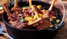 Lamb Shanks and Vegetable Pot Lamb Shanks, Pot Roast, Vegetables, Ethnic Recipes, Food, Carne Asada, Roast Beef, Leg Of Lamb Marinade, Vegetable Recipes