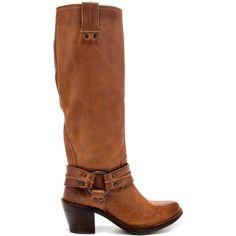 Cognac Riding Boots / Frye