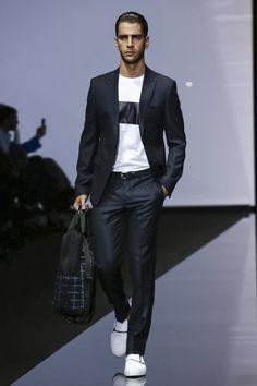 Emporio Armani Menswear Collection Spring Summer 2015 in Milan
