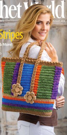 Big Pufana's Creations: Чанта тип торба на една кука crochet world English