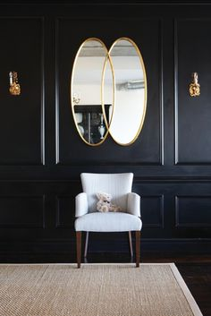 Would love to paint a room black...like the study.  The family...not fans.