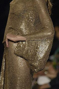 Liquid gold spanning eras ...at Elie Saab
