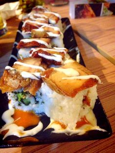 Fried eel #sushi roll