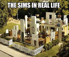 Real life Sims… TOO AWESOME FOR WORDS!!! Now we just need a green diamond halo and we can move right in!