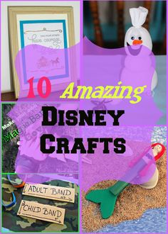 10 Amazing Disney Crafts for all of the Disney lovers out there!  Fun and simple crafts that will keep the kids busy this summer.