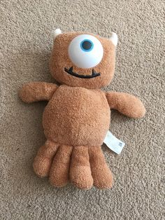 """Disney Monsters Inc Little Mikey Boo Teddy Plush Soft Toy Approx 8"""". #Hasbro"""