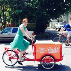 Violet's Cold Pressed Juice and Pops - Icicle Tricycles Mobile Juice Bar Trike