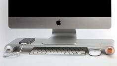 bureau meuble intégré informatique imac design - Recherche Google