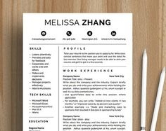 Resume Template Cv Template Editable In Ms Word And Pages