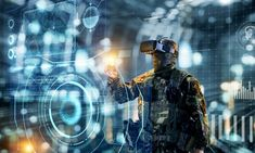 Soldier in virtual reality glasses. Military concept of the future. Soldier in g , Augmented Reality Technology, Science And Technology, Energy Technology, Medical Technology, Political Events, Political Science, New Aircraft, Virtual Reality Glasses, 3d Visualization