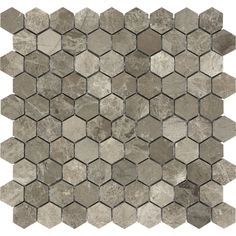 Shop Anatolia Tile Silver Creek Polished Natural Stone Mosaic Hexagon Wall Tile (Common: 12-in x 12-in; Actual: 12.04-in x 11.57-in) at Lowes.com