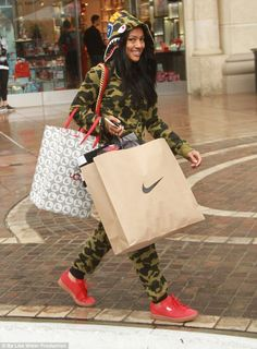 The one that got away: Also on Tuesday Chris' ex Karrueche Tran was seen shopping in Los A...