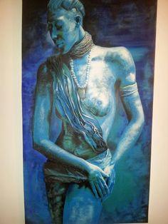 Africa azul by Santidrián