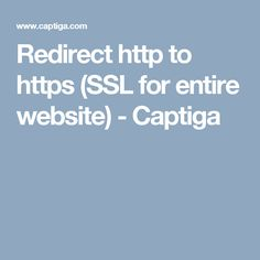 Three easy methods on how to properly redirect your entire website from http to https.htaccess, php or an html meta tag) Website