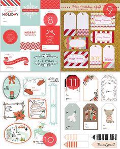 25 Free Printable Holiday Gift Tags