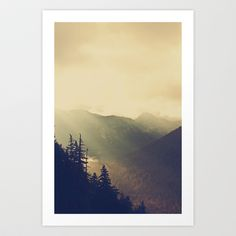 Sunrise over the Mountians Art Print by Kurt Rahn - $20.00