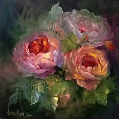 Oil painting - the living art! Oil Painting Flowers, Abstract Flowers, Watercolor Flowers, Watercolor Paintings, Painting Lessons, Painting & Drawing, Rose Art, Arte Floral, Beautiful Paintings