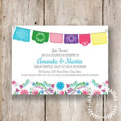 Let's Fiesta /// Wedding, Bridal, Baby Shower /// 5x7 Printable Invitations /// DIY Party /// Instant Download on Etsy, $12.00