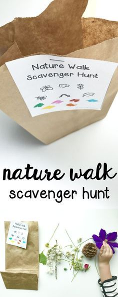 Nature Walk Scavenger Hunt: Such a fun outdoor activity for toddlers and preschoolers!