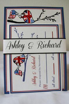 Lovebird/British/American/Union Jack by ChristiMarieCreative