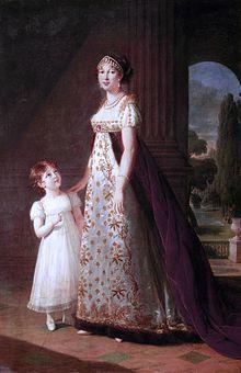 Élisabeth Vigée Le Brun, Caroline Murat, reine de Naples avec sa fille Laetitia (1807)