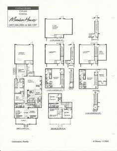 Dianna Coastal Floor Plans in Celebration FL Celebration Florida, Morrison Homes, Cottage Homes, Model Homes, Floor Plans, Victorian, Flooring, How To Plan, Architecture