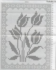 Filet crochet image, no pattern Crochet Curtain Pattern, Crochet Curtains, Crochet Flower Patterns, Doily Patterns, Tapestry Crochet, Cross Stitch Patterns, Curtain Patterns, Punto Red Crochet, Crochet Cross