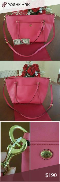 Brand New Pink Coach Bag. 100% Authentic Pink Coach Bag. Perfect Condition. Never Used. Comes from a smoke free home. Please ask before buying, I'm more than happy to help you! Coach Bags