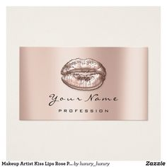 Shop Makeup Artist Kiss Lips Rose Pink Beauty Surgery Business Card created by luxury_luxury. Lip Surgery, Cosmetology, Pink Roses, Business Cards, Wedding Planner, Kiss, Things To Come, Makeup, Artist