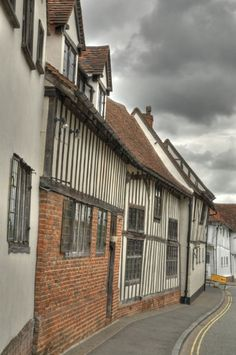 Medieval houses in Lavenham in Suffolk, England
