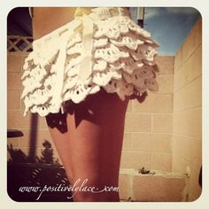 Scalloped #crochet skirt free pattern from Positively Lace