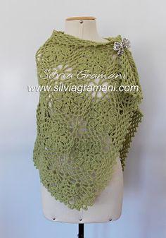 Silvia Gramani Crochê: Echarpe em Crochê
