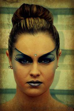 Hair and makeup. Fashion. Creative. Beauty. Dramatic. Grey, silver black J.Broomhall makeup artist & body art