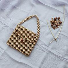 Items similar to Wood Bead Bag, Wooden Beaded Purse, Beaded Boho Bag Purse, Mini Clutch, Mini Tote Bag on Etsy : Wooden Beads Bag / Wood Beads Purse / Beaded Boho Bag / Purse / Mini Clutch / Mini Tote Bag Beaded Purses, Beaded Bags, Clutch Mini, Mini Purse, Diy Sac, Beach Tote Bags, Cute Bags, Knitted Bags, Wooden Beads