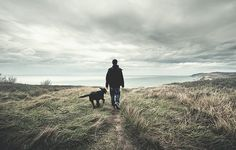 A man and his dog off on adventures