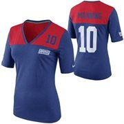 Nike Eli Manning New York Giants Ladies My Player Top Tri-Blend V-Neck T-Shirt - Red/Royal Blue