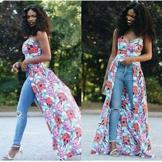 Jenny Rossy African print peplum top African blouse with rhinestone design jacket zipper top African clothing ankara women size us African Dresses For Women, African Attire, African Women, African Tops, Edgy Outfits, Girl Outfits, Cute Outfits, Fashion Outfits, Styles Ankara