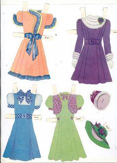 At Home and Abroad dolls – Bobe – Picasa Nettalbum  Журнал с вырезными куклами и одежкой