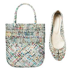 """MSN featured this in a """"Best Green Fashion"""" piece - the shoes and bags are from Morrison & Me in Cincinnati."""