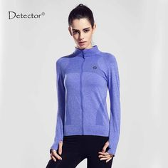 Detector Women Running Jacket Clothing Quick-dry Long-sleeve Sportswear for Female Sports Fitness Zipper Coat Outerwear