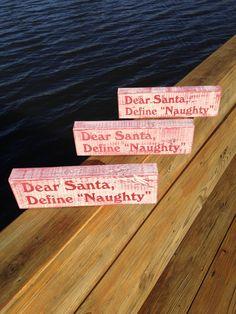 Dear Santa on recycled 2x4's